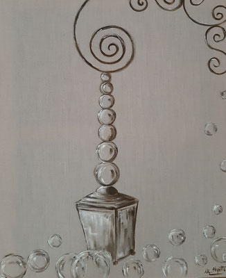 Lanterne sur du lin / 60 x 72 cm / Huile / Prix : 100 euros