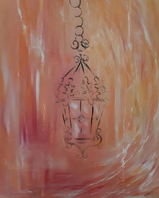 Lanterne orangée / 60 x 72 cm / Huile / Prix : 120 euros