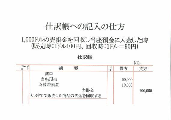 仕訳帳(当座預金・為替差損益・売掛金)