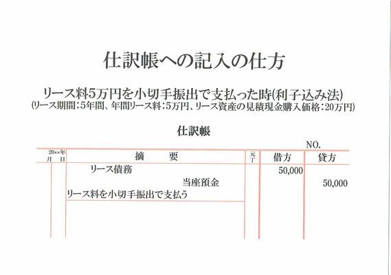 仕訳帳(リース債務・当座預金)