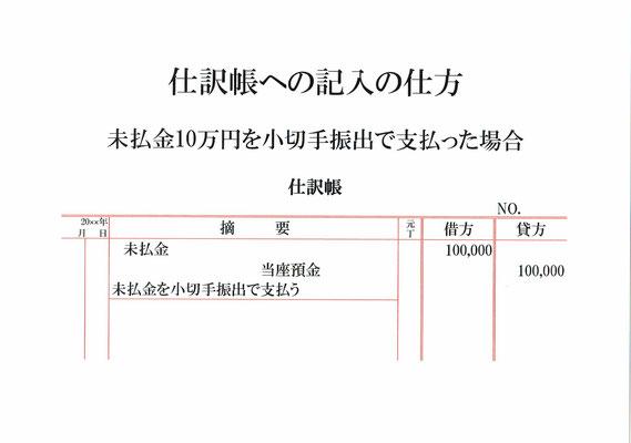 仕訳帳(未払金・当座預金)