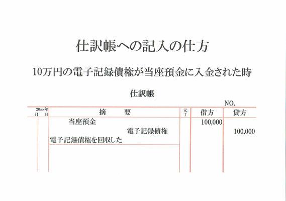 仕訳帳(当座預金・電子記録債権)