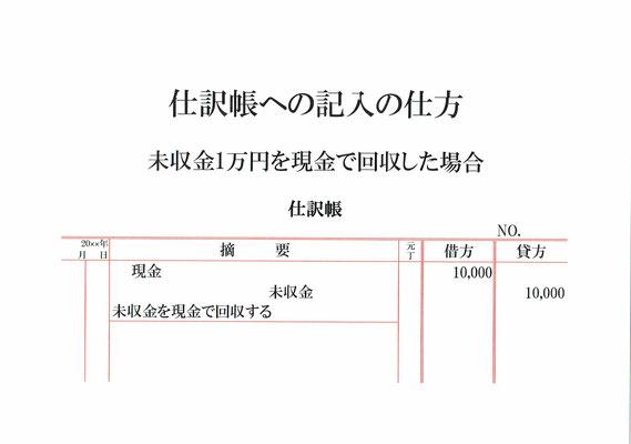 仕訳帳(現金・未収金)