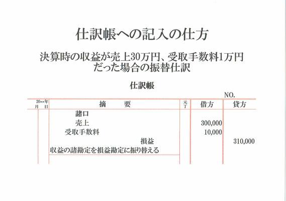 仕訳帳(売上・受取手数料・損益)