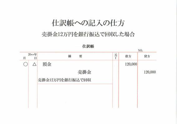 仕訳帳(売掛金回収)