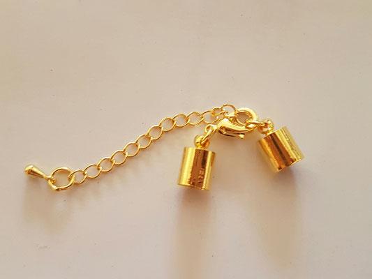 Verschluss Kette in goldfarbend 4,00€ (in 6mm und 8mm) - Beschichtung kann sich verfärben!