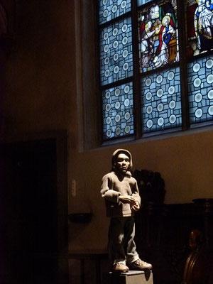 Der FLÜCHTLING (David) in der Milieukrippe von Sankt Maria Lyskirchen