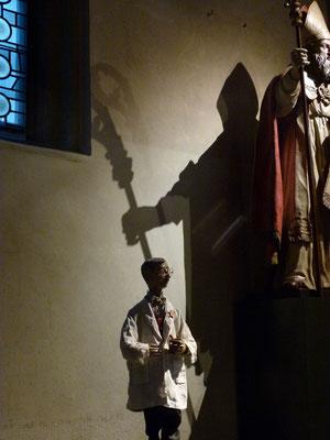 Der JÜDISCHE APOTHEKER in der Milieukrippe von Sankt Maria Lyskirchen