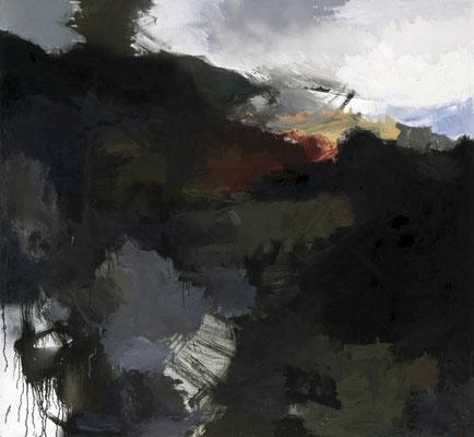 Huy Landschaft, 1982, Öl auf Leinwand, 130x140