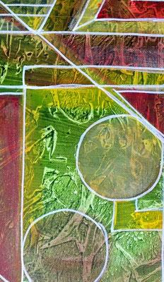 Begegnung Figuren Bild 50x60 Abstrakte Malerei Unikat Kunstbild handgemaltes Bild