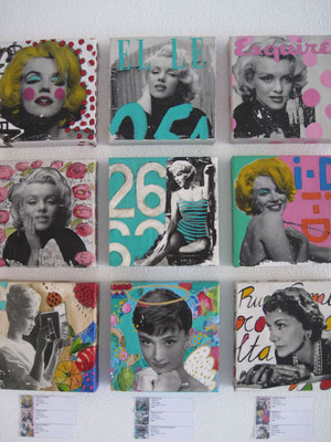 Celebrities   20x20cm. Mixta-lienzo P.V.P.  300 €     2014 - 2016