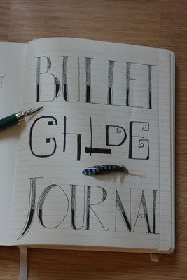 Première page de mon Bullet Journal