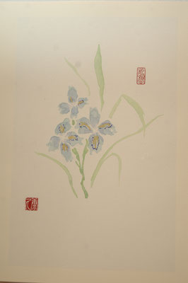 花木図冊(水墨画、冊)/加藤康久