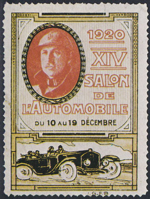 Sluitzegel Automobieltentoonstelling 1920.