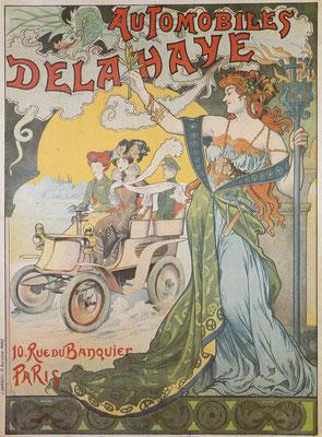Affiche Delahaye uit ~ 1898.