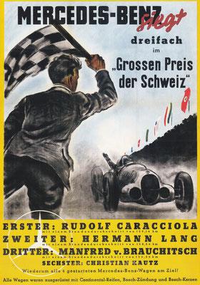 Affiche voor Mercedes-Benz uit 1937.