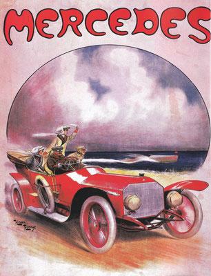 Affiche voor Mercedes van Henri Rudaux.