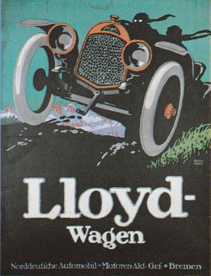 Affiche van L. Bernhard voor Lloyd uit 1913.
