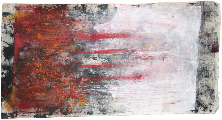 STERNENFELD, 2017 – Mischtechnik auf Leinwand, 120 x 60 cm 1550 € (ohne Versand)