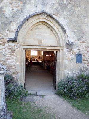 Prieuré de Charrière - Entrée de la chapelle