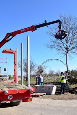02.03.2021 - Baustelle neuer Eingang - building site new entrace