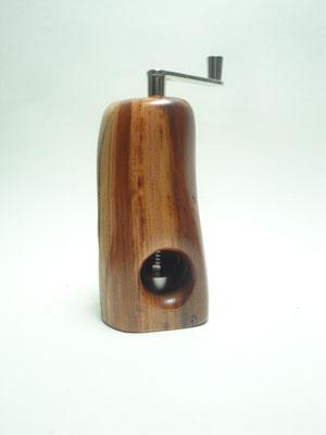 Muskatmühle / Muskatreibe  Unikat Design handarbeit Einzelstück Holz Zwetschge