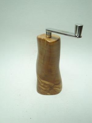 Muskatmühle / Muskatreibe Design Unikat handarbeit Einzelstück Olive Holz