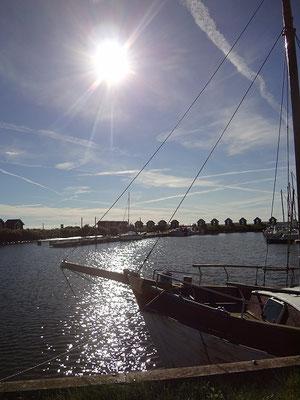 Dänemark 2015 - Hafen im Gegenlicht