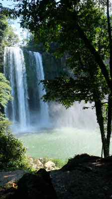 Beim Wasserfall Misol-Ha