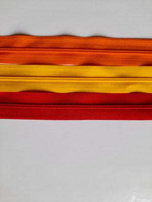 nicht teilbar - 50 cm - orange, gelb, rot