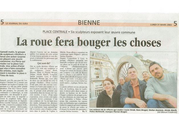 31.03.2003 Le Journal de Jura