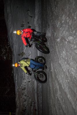 Alpine Fatbike Nightride Hochwurzen Downhill