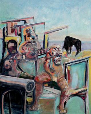 Zorro (2013) oil on canvas 150 x 120 cm