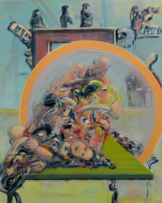 offstage (2013) oil on canvas 150 x 120 cm