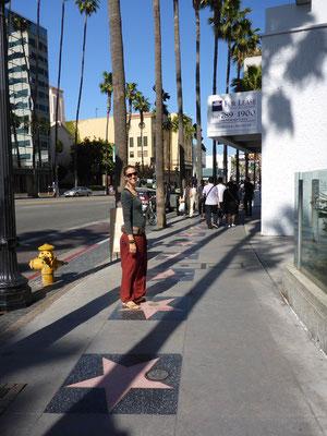 Auf dem Hollywood Boulevard