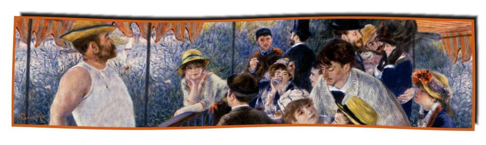 Artikel Nr. 2065 Frühstück der Ruderer - Renoir (180 x 45 cm)