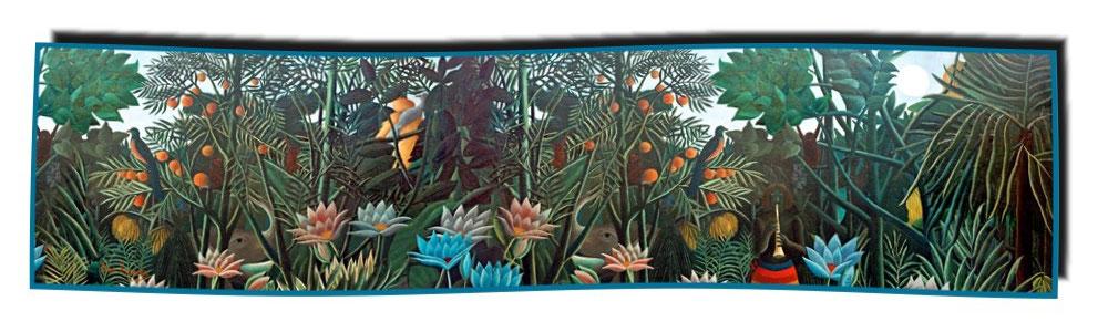 Artikel Nr. 2061 Der Traum Detail - Rousseau (180 x 45 cm)