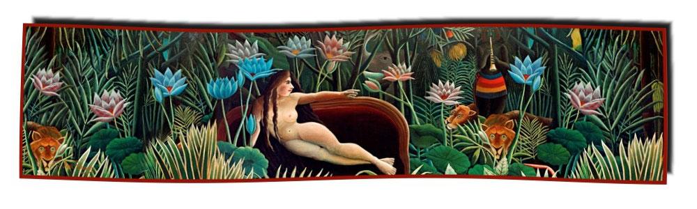 Artikel Nr. 2060 Der Traum - Rousseau (180 x 45 cm)