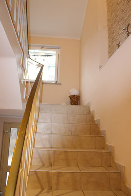 Blick Treppe nach oben