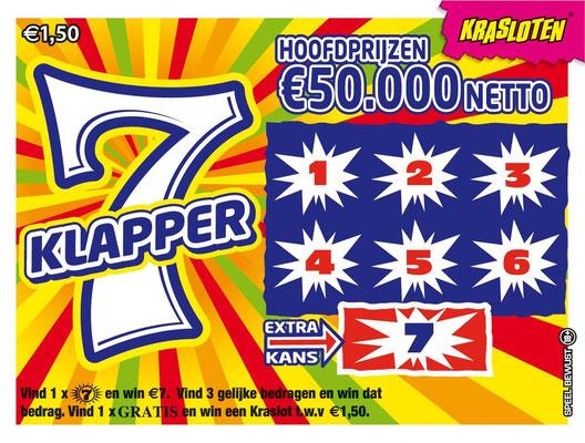 7 Klapper - €1,50