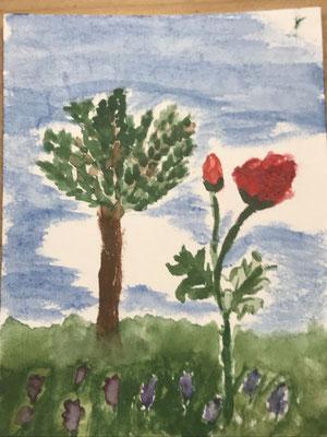 Rosen  13 mit Baum