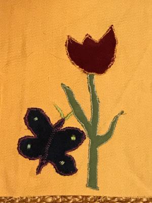 Tasche: Tulpe mit Schmetterling