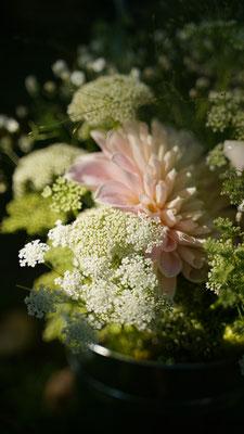 Décoration florale pastelle mariage