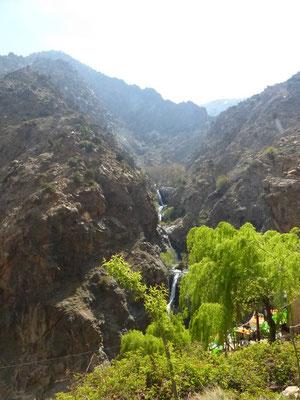 Les cascades sont très hautes