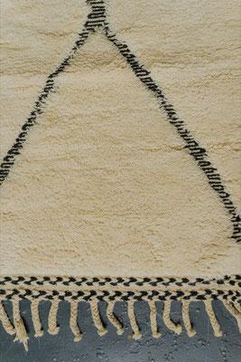 Berber Rug Azilal Teppich White Black White