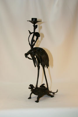Héron asiatique-bronze ancien-150€