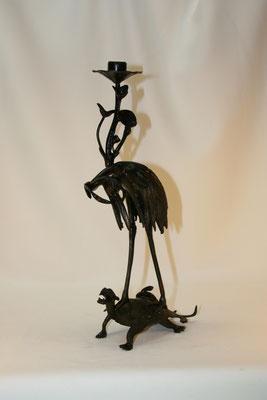 Héron asiatique-bronze ancien-80€