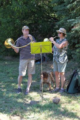 Familie Kreisel sorgt für die musikalische Umrahmung.