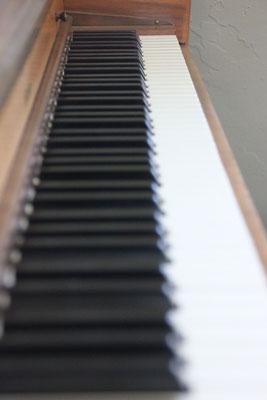 Ich spielte mit Freude mal wieder ein bisschen Klavier...