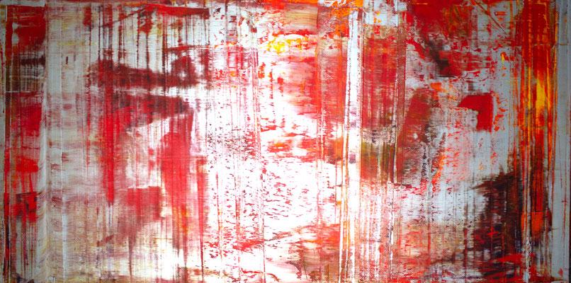 KERSTIN SOKOLL, besilbert, 2018, Q002, 100 x 200 cm, SOLD